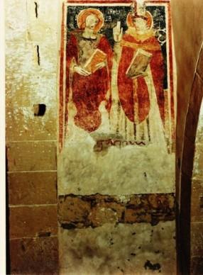 Affresk St Agatha and St Blaise