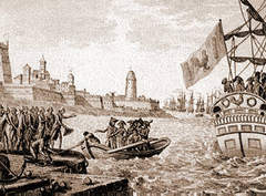 French disembark