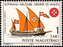 galera 18 secolo--postage-stamps-military-orders