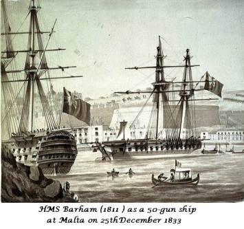 HMS BARHAM in Grand Harbour