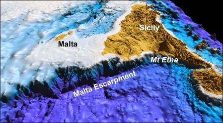 Med Sea Bed Malta Escarpment